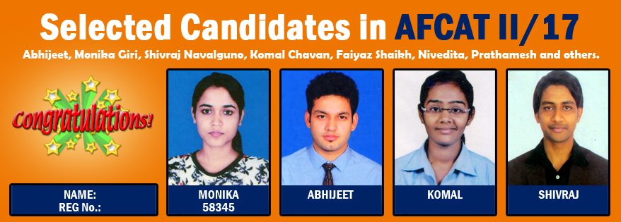 Selected Candidates in AFCAT