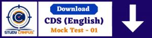 Free Download CDS English Mock Test-01